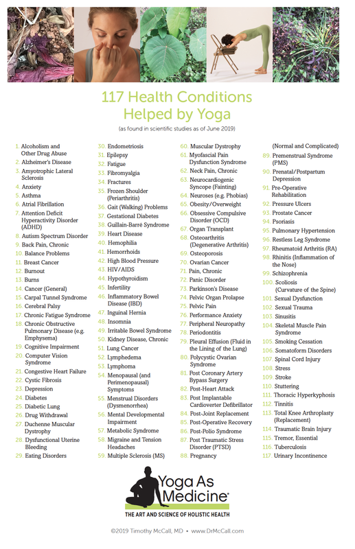 117 Health Conditions Helped By Yoga Yoga As Medicine